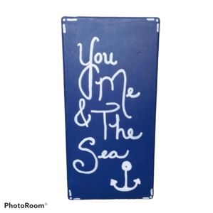 Reversible Wooden Sign w/ Quotes - Hand Painted